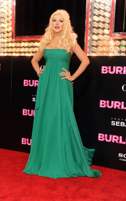 christina aguilera burlesque green dress song. christina aguilera burlesque
