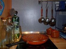 Un momento íntimo (cocinando pisto manchego)