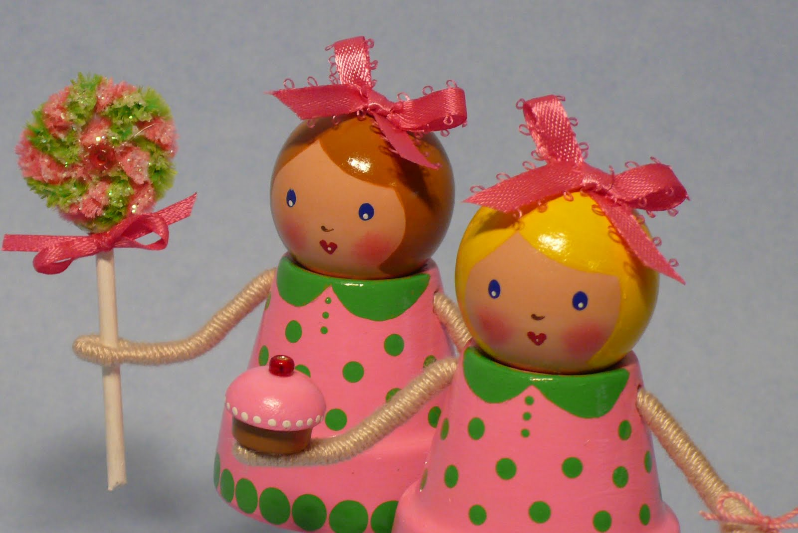 how to make clay pot dolls