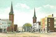 Lovely Downtown Lewiston Circa 1915