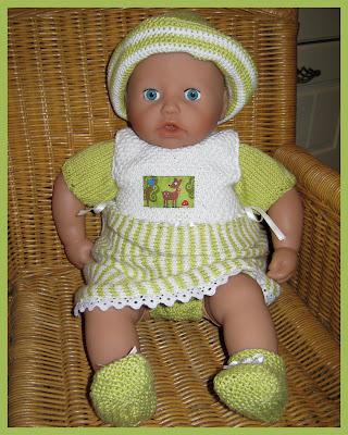KLAVERTJE KLEDING: Setje voor baby Annabell