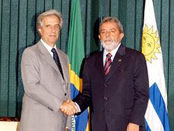 Presidentes de Uruguay, Dr. Tabaré Vázquez, y de Brasil, Luiz Inácio Lula da Silva
