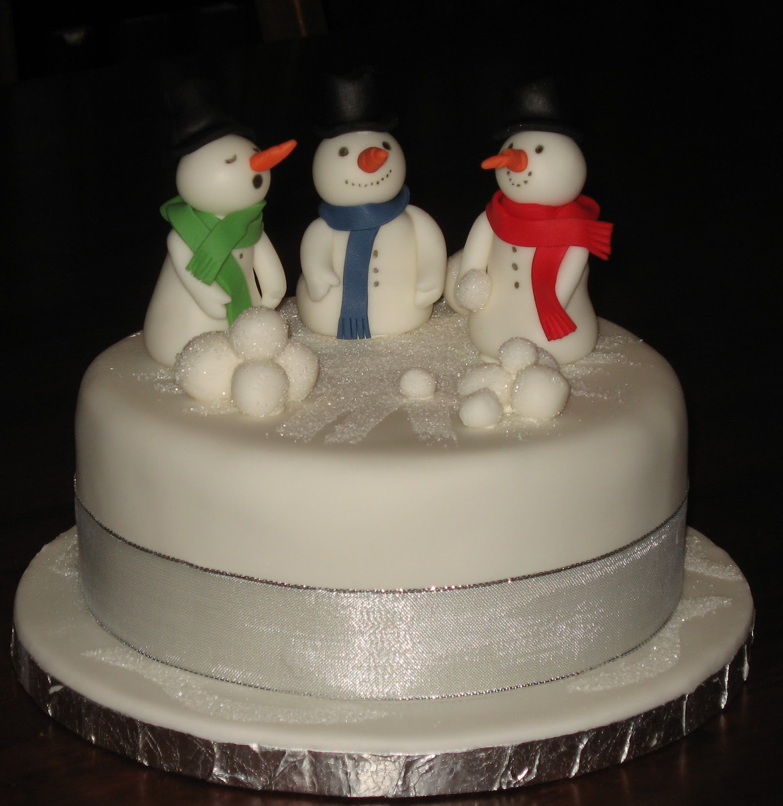 Let Them Eat Cake: Three Snowmen