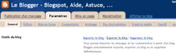 Sauvegardez mon blog