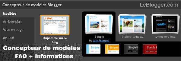 Blogger concepteur de mosèles Template Designer FAQ
