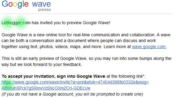 Invitation Google Wave