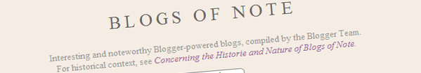 Blogs of Note