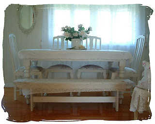 Shabby chic by glorialy diciembre 2009 for Comedor con banca