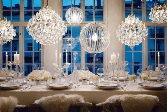 Winter Wonderland Tablescapes