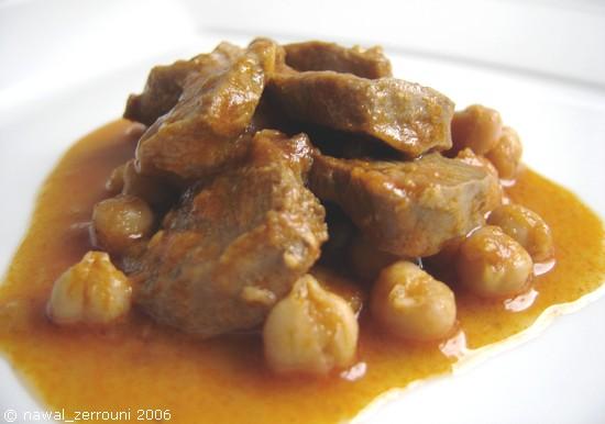 Les casseroles de nawal langues d 39 agneau en sauce relev e et aux pois chiches - Comment cuisiner la langue de boeuf ...