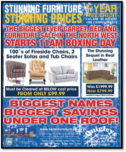 Quigleys Quality Beds And Furniture Superstore Lancashires Biggest