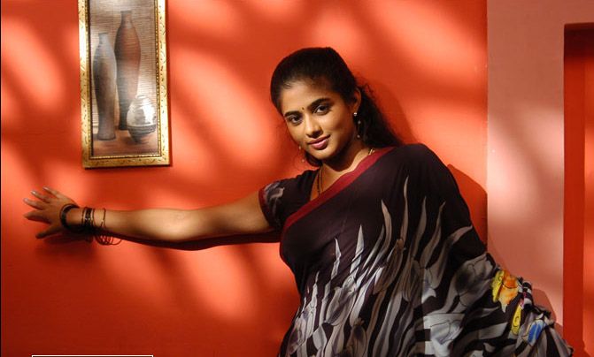 Actress Priyamani Black Saree Photos