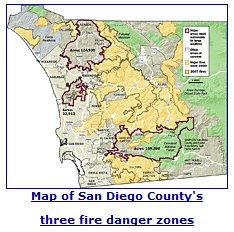 San Diego County At Risk Areas Wildfire Today