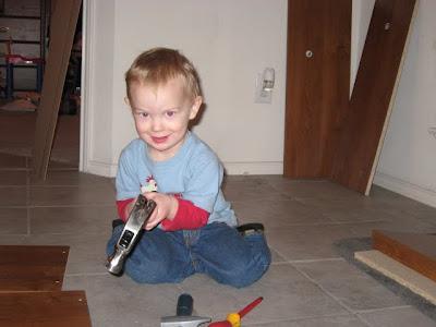 Toddler Wielding Hammer!!