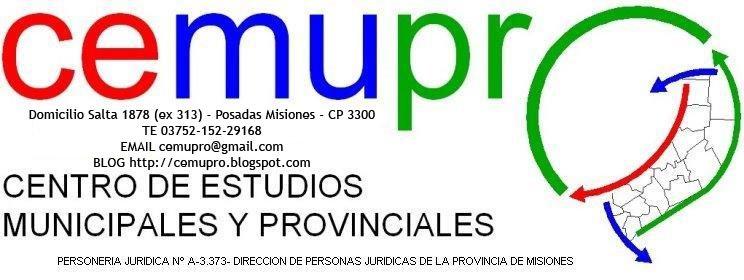 CENTRO DE ESTUDIOS MUNICIPALES Y PROVINCIALES