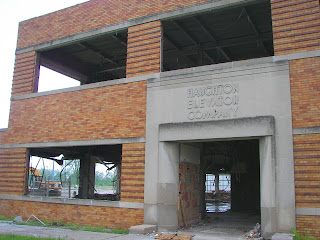 Spencer Street entrance to the former Haughton Elevator facility