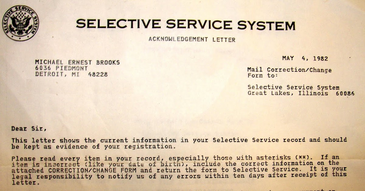 Historymike On Dusty Documents And The Selective Service System