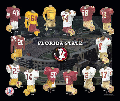 Florida State on Florida State Seminoles Football Uniform And Team History