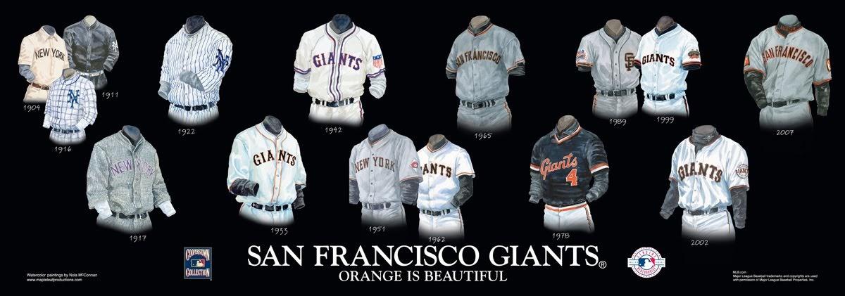 San Francisco Giants Uniform and Team History | Heritage ...