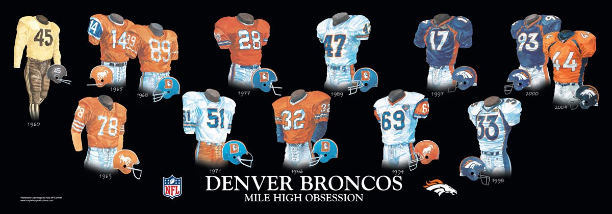 Denver Broncos Uniform And Team History Heritage