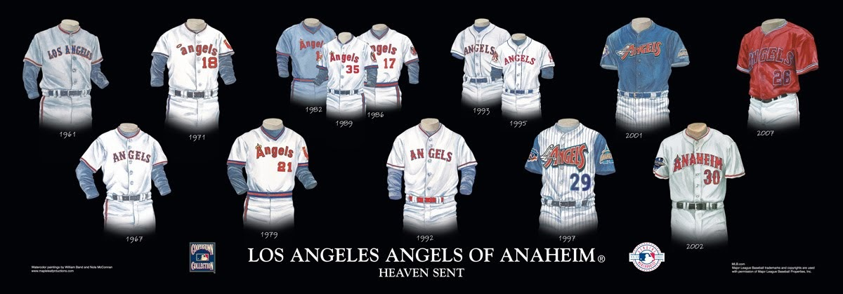 Los Angeles Angels Of Anaheim Uniform And Team History