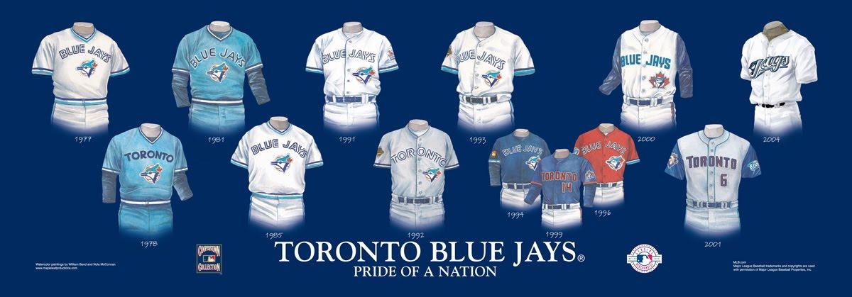 blue jays jersey history