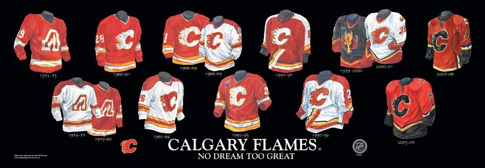 Calgary Flames Uniform 111