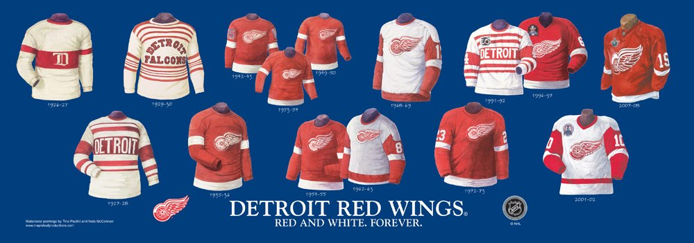 Red Wings Sweater History