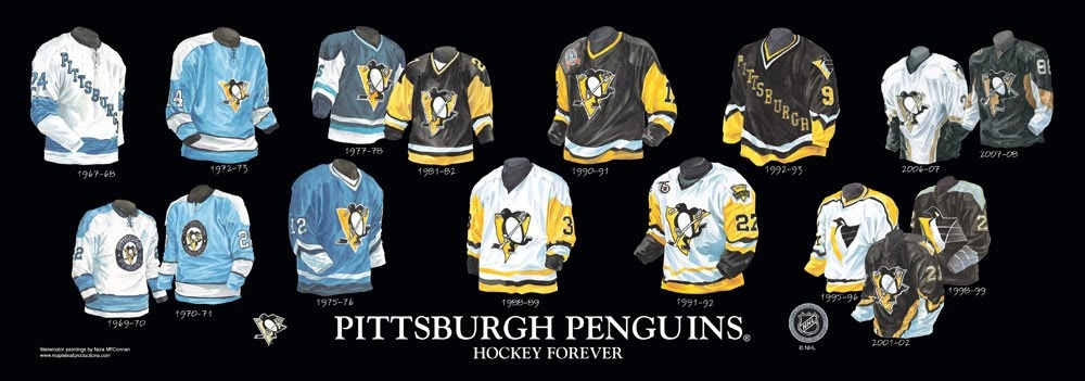 Pittsburgh Penguins History Jersey Numbers 105