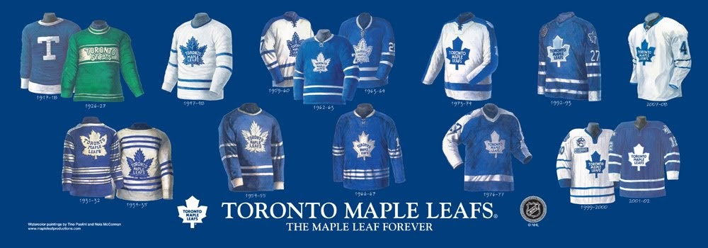 Toronto Maple Leafs Jersey History 23