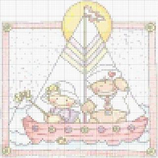 Agost02 Esquemas de Ponto Cruz com Bebés para crianças