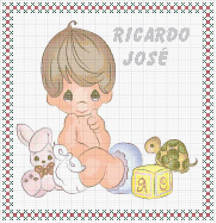 Agost07 Esquemas de Ponto Cruz com Bebés para crianças