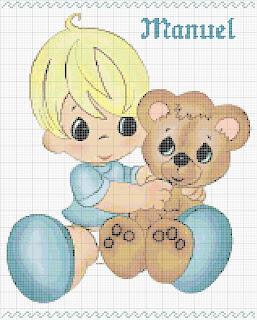 Agost06 Esquemas de Ponto Cruz com Bebés para crianças