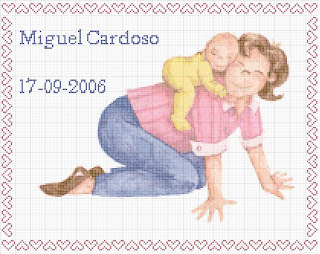 Agost08 Esquemas de Ponto Cruz com Bebés para crianças