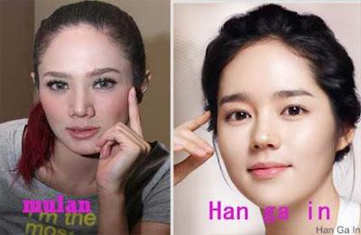 mulan+jameela+ +han+ga+in1 Wow!!! Artis Indonesia Yang Mirip Artis Korea