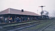Locomotora 714 en Estación de Curacautin