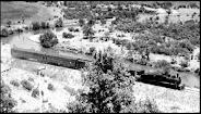 Tren en el valle de Lonquimay