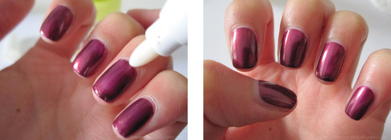 Die Nägel mit hübschen Blüten verzieren