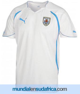 Camiseta Suplente Segunda Equipación Uruguay Puma para el Mundial 2010