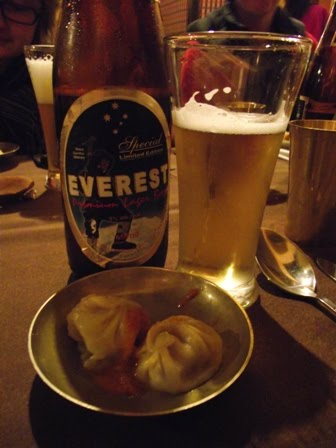 Everest beer and momos...all you really need in life
