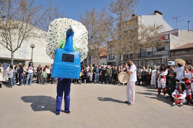Paó Zel de Malla dansant al barri de Can Palet (Terrassa), el 22-3-09