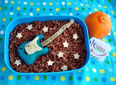Guitar, food art