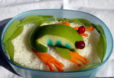 Frog+On+Rice, food art