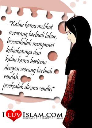 dan ingatlah anakku muslimah sejati bukan dilihat dari sifat