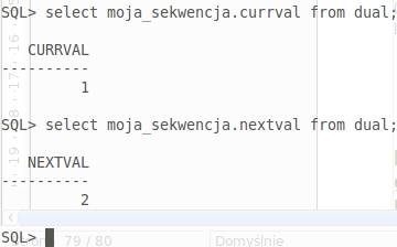 Nextval and currval in oracle