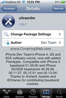 Step7 How to Unlock iPhone 4 on iOS 4.1 with Ultrasn0w