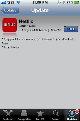 Netflix Support for video out on iPhone 4 and iPod 4th Gen