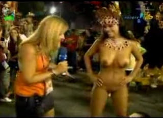 Nude carnival dancers in Brazil