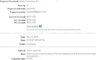 Pembayaran dari Ayoclix