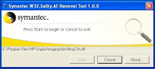 removal tool dari symantec untuk membersihkan virus sality